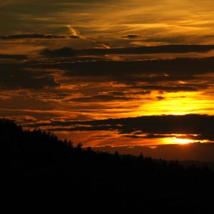 Tramonto al Bayerischer Nationalpark