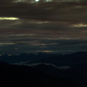 Prealpi Trevigiane e Dolomiti Bellunesi sullo sfondo